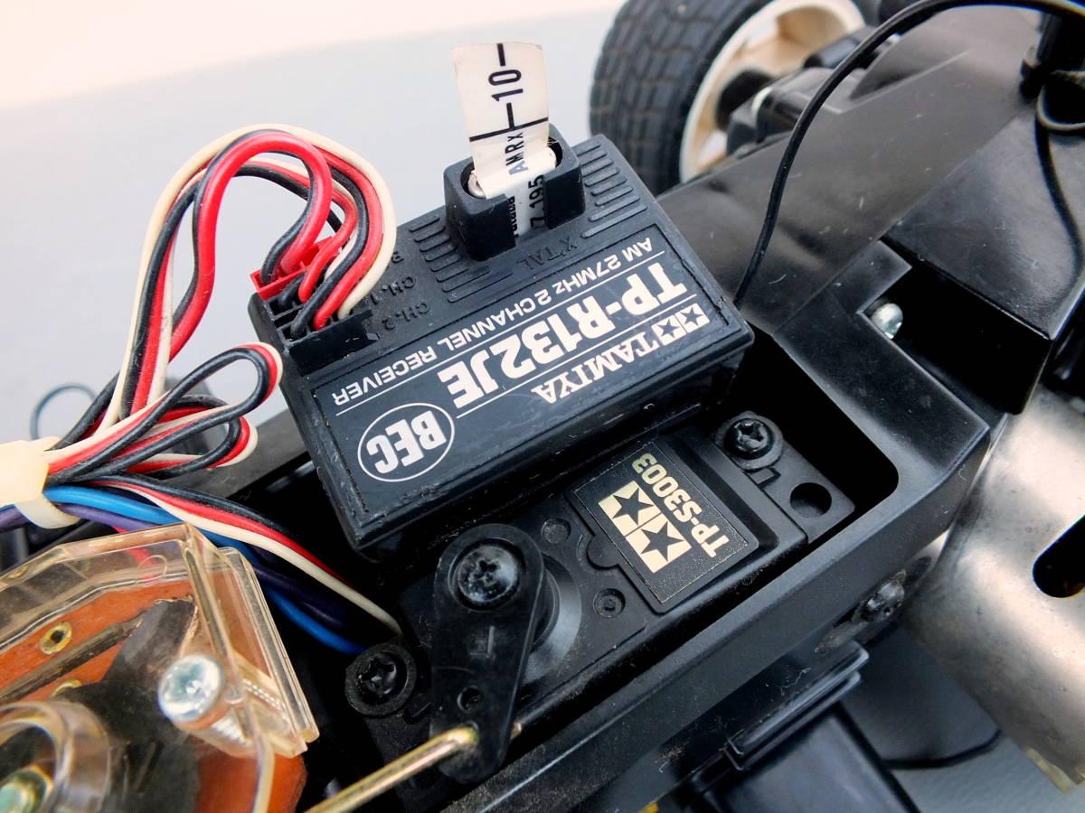 全長43cm タミヤRCカー(三菱ランサーエボリューション)中古美品の部類 4WDラリー ランエボ マッキネン
