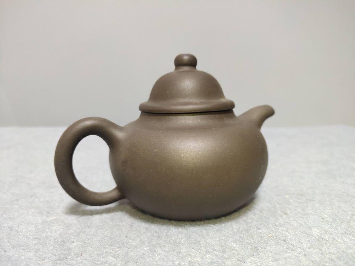 唐物 中国宜興 在印 紫泥 急須 サイズ約12.8cm×8.5cm×h8.2cm 茶壺 古玩 中国美術 宜興 紫砂 朱泥 烏泥 煎茶道具 急須 紫砂