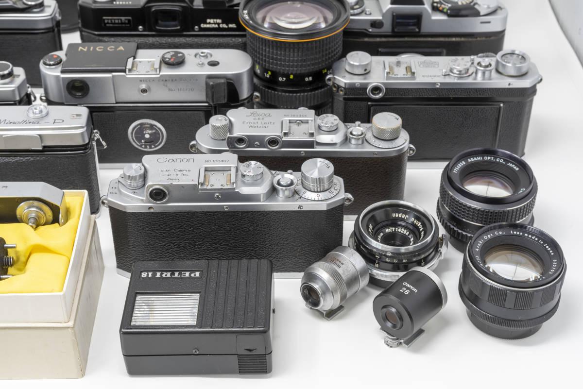 各種 フィルムカメラ レンズ等 ジャンクセット(Nikon, Canon, PENTAX, OLYMPUS, MINOLTA, NICCA, PETRI, Tokina, Leica)