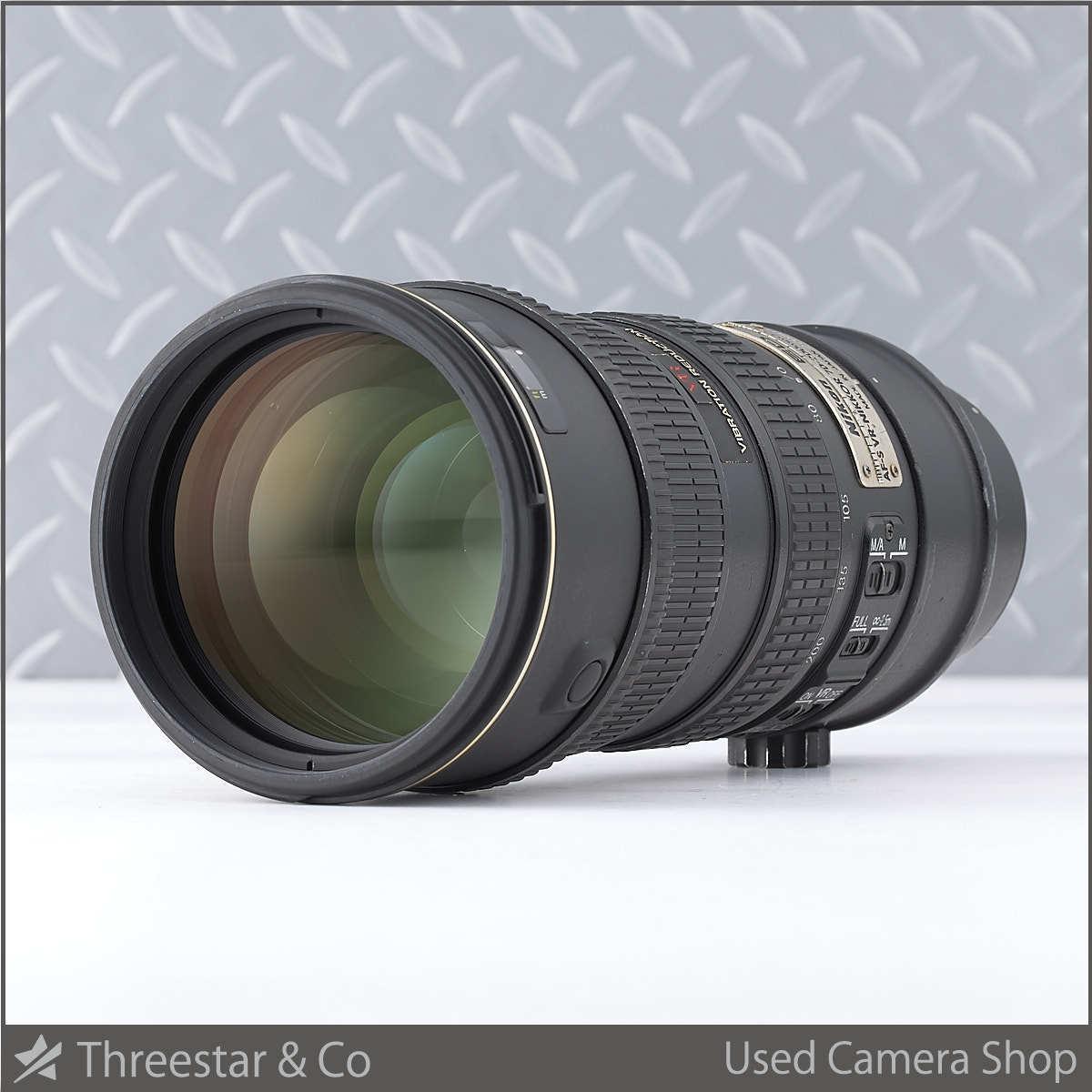 1円~ NIKON AF-S VR ED 70-200mm F2.8G IF ブラック 実用中古にて 三脚座欠品
