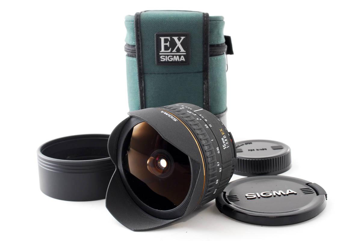 ★極上美品★ケース付!SIGMA シグマ AF 15mm F2.8D EX FISHEYE Nikon ニコン (311)