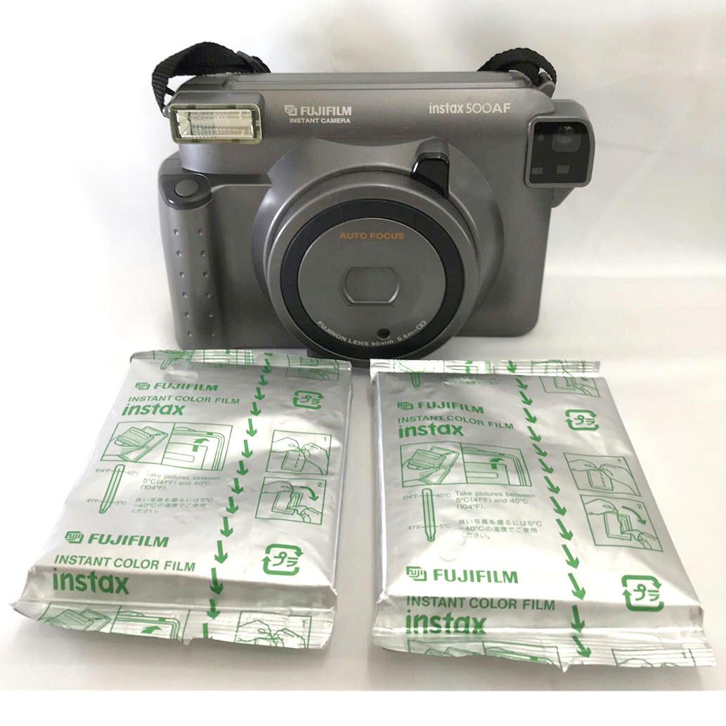 1円【中古】 FUJIFILM 富士フィルム インスタントカメラ instax500AF 【08】