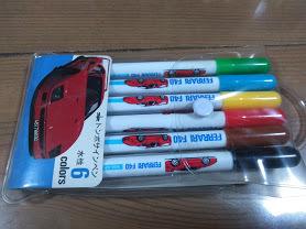 フェラーリ F40 カラーマーカー6本セット 新品 絶版 未使用 貴重品 レア FERRARI