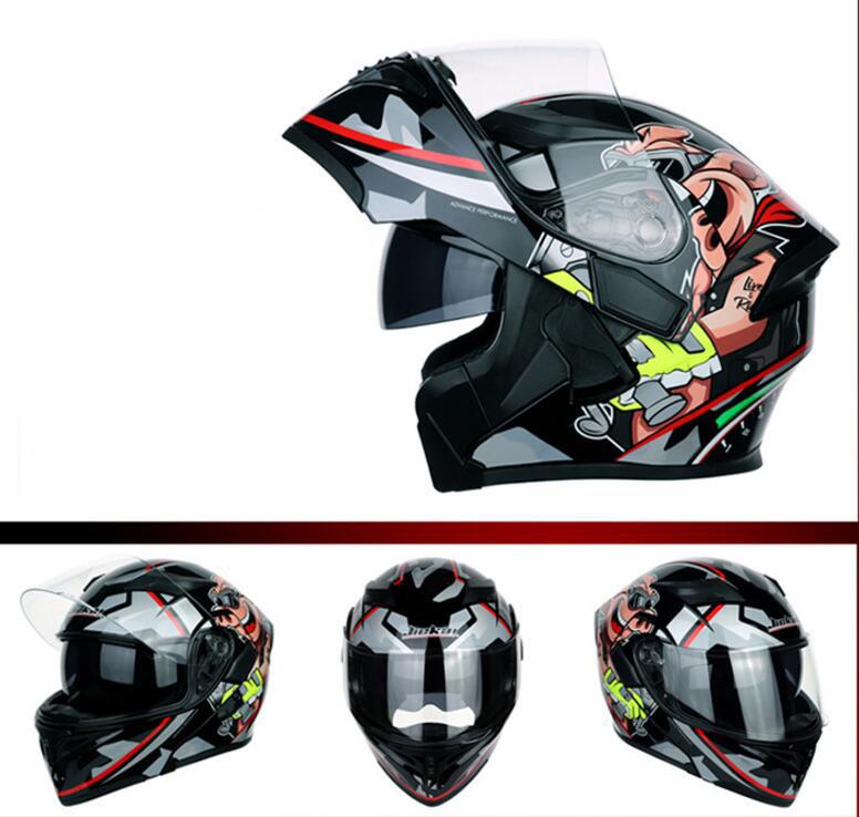 熱売り ダブルシールド JIE KAI DOT認証システムヘルメット フリップアップヘルメット サイズ 選択 M-XL新品