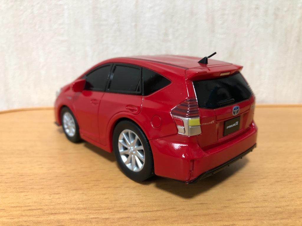 トヨタ プリウスα プルバックカー 中古 非売品 送料¥300 アルファ ミニカー 赤
